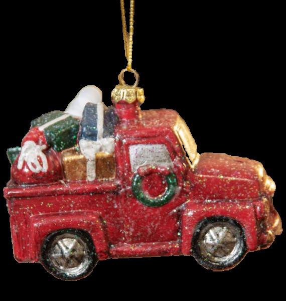 Widdop, Alpine Escape Collection by Santa's Workshop, Weihnachtsanhänger, Anhänger, Pick Up Truck Anhänger, Pick Up Truck mit Geschenken, Tannenbaumanhänger, Christbaumschmuck, Weihnachtsschmuck, XM6379