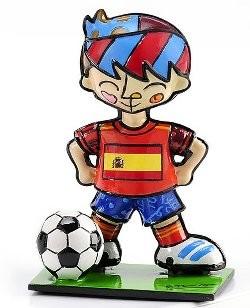 Romero Britto Pop Art aus Miami - Football Player Spain / Fußballspieler Spanien