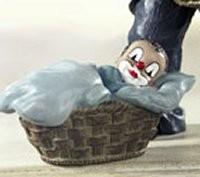 Gilde Handwerk, Gilde Clowns, Junge im Korb, Geburt
