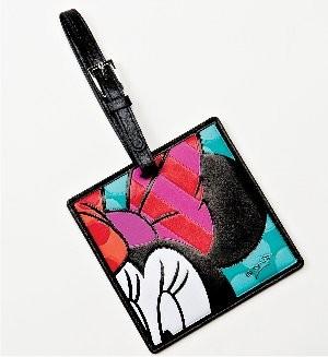 Romero Britto Pop Art aus Miami - Minnie Mouse Luggage / Minnie Maus Kofferanhänger