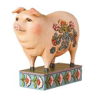 Heartwood Creek, Jim Shore, Folk Pig, I Hog Heaven, Schwein
