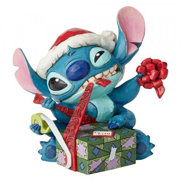 Disney Traditions, Jim Shore - Bad Wrap, Stitch with Santa Hat / Schlechte Verpackung, Stitch mit Weihnachtsmütze