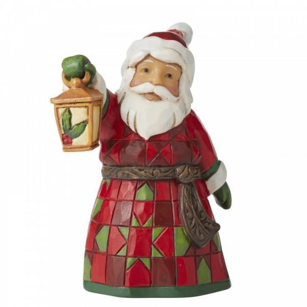 Heartwood Creek, Jim Shore, Santa with Lantern Mini Figurine, Weihnachtsmann mit Laterne, Minifigur