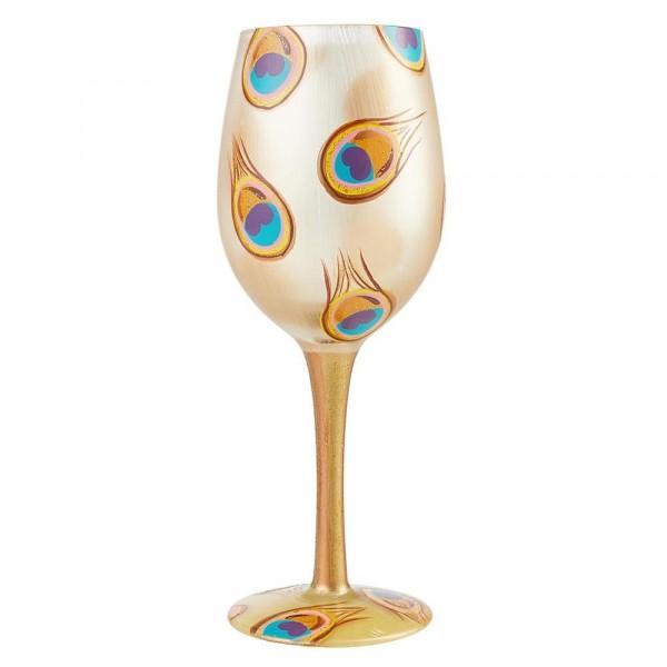 Lolita Glas, Lolita Gläser, Lolita Weinglas, Lolita Weingläser, Golden Peacock, Goldener Pfau, 6004361
