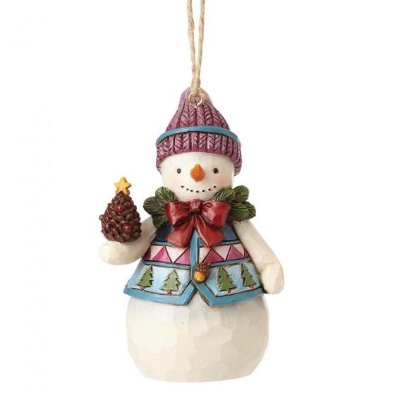 Heartwood Creek, Jim Shore, Mini Snowman Ornament, Mini Schneemann Anhänger