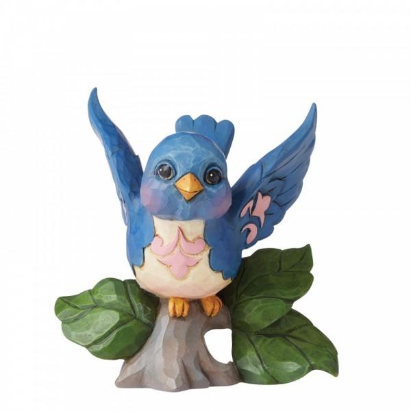 Heartwood Creek, Jim Shore, Bluebird Mini Figurine, Blauer Vogel, Minifigur