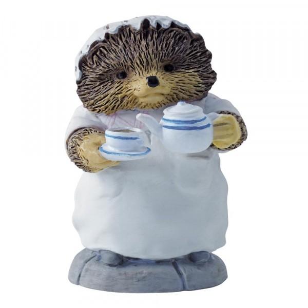 Beatrix Potter, Beatrix Potter Collection, Peter Rabbit, Benjamin Bunny, Flopsy, Jemima Puddle-Duck, Jeremy Fisher, A2351, Mrs. Tiggy-Winkle Pouring Tea