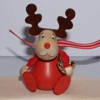Weihnachtselch mit Posaune