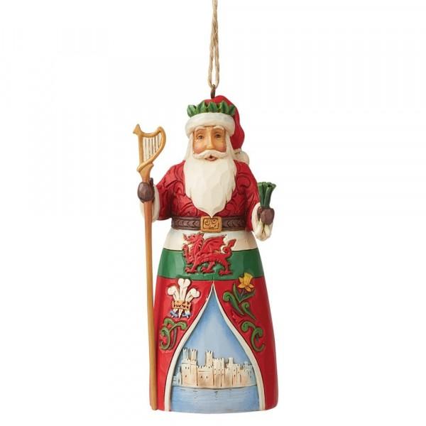 Jim Shore, Heartwood Creek, Jim Shore Weihnachten, 6009465, Welsh Santa Ornament, Walisischer Weihnachtsmann Weihnachtsanhänger, Around the World Collection, Jim Shore Santas, Jim Shore Weihnachtsmann, Heartwood Creek Weihnachtsmann, Jim Shore Santa