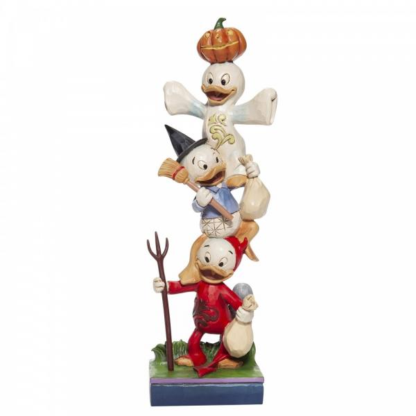 Disney Traditions , Jim Shore, Halloween Stacked Huey, Dewey and Louie, Tick, Trick und Track, 6007079 , Disneyfigur, Disney Figur, Folkart, Volkskunst