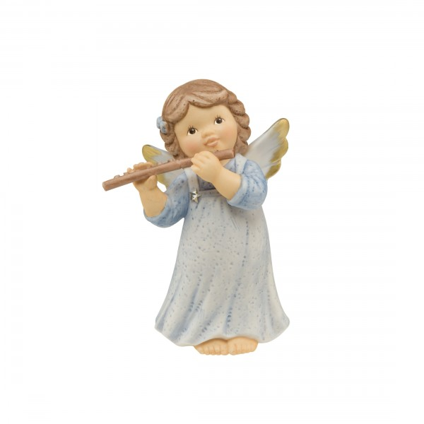 Nina und Marco, Nina & Marco, Goebel, Engel, Fröhliches Flötenspiel, 11749161, Swarovski