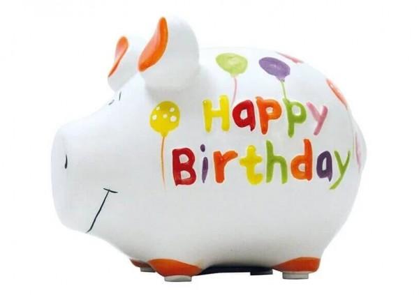 KCG Sparschweine, Best of Sparschwein, das Markenschwein, Kleinschwein, Sparschwein, Spardose, Sparbüchse, Wir sind das Schwein, Sparschwein Happy Birthday, 101187, Geldgeschenk