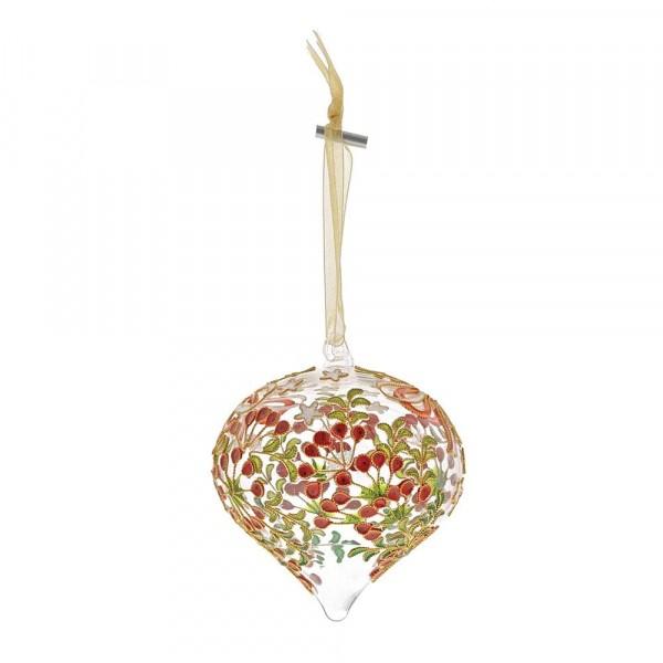 Enesco's Treasury of Ornaments, handbemalt, mundgeblasen, Bowknot, Schleife, Glaskugel, Anhänger