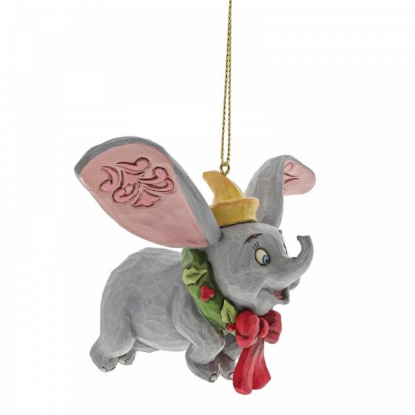 Disney Traditions , Jim Shore, Dumbo Ornament, Dumbo Anhänger, Disneyfigur, Disney Figur, Folkart, Volkskunst, A30359, Weihnachtsanhänger, Tannenbaumanhänger, Christbaumanhänger