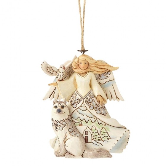 Heartwood Creek, Jim Shore, White Woodland Angel Ornament, Engel, Anhänger