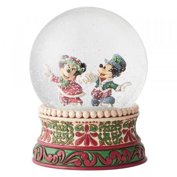 DIsney Traditions, Jim Shore - Splendid Skaters Victorian Mickey & Minnie Waterball / Schneekugel