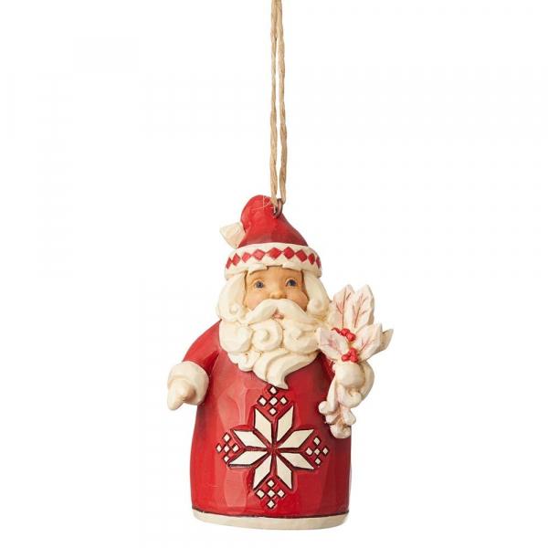 Heartwood Creek, Jim Shore, Nordic Noel Santa Ornament, Weihnachtsmann Anhänger, Nordische Weihnachten