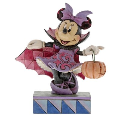 Disney Traditions , Jim Shore, Disneyfigur, Disney Figur, Jim Shore Halloween, Disney Traditions Halloween, Minnie Mouse, Minnie Maus, Violet Vampire Minnie, 6000949
