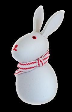 Sebastian Design, Kerzenringe, Steckfiguren, weißer Hase, stehend