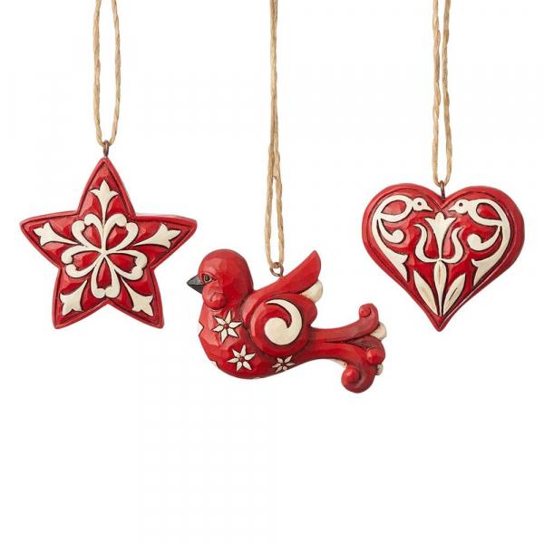 Heartwood Creek, Jim Shore, Nordic Noel Ornaments, Anhänger, Nordische Weihnachten