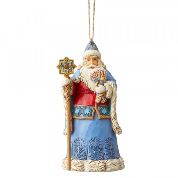 Heartwood Creek, Jim Shore, Around the World, Ukrainian Santa, Ukrainischer Weihnachtsmann, Ornament, Anhänger