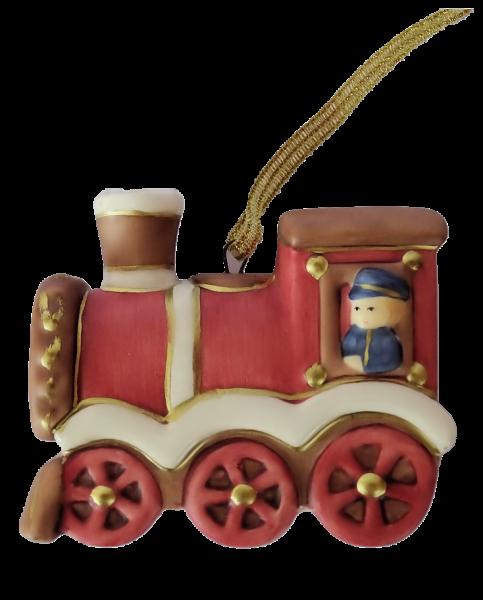 Goebel, Nina und Marco, Nina & Marco, Eisenbahn, Weihnachtsanhänger, Ornament, Tannenbaumanhänger, Christbaumschmuck
