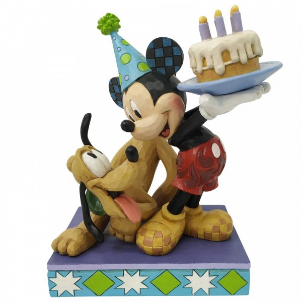 Disney Traditions , Jim Shore, Pluto and Mickey Birthday, Pluto und Micky feiern Geburtstag, Disneyfigur, Disney Figur, 6007058