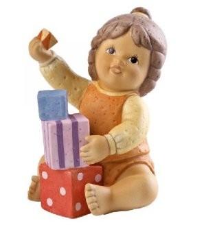 Goebel, NIna und Marco, Nina & Marco, Schau wie hoch ich bauen kann, Nina mit Bauklötzen