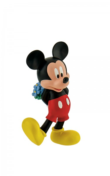 Bullyland, Micky Maus, Micky mit Blumenstrauß, Valentinstag