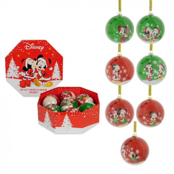 Disney, Walt Disney, Widdop and Co, Disney, Hanging Decoration, XM6036, Weihnachtsanhänger, Disney Weihnachtskugel, Disney Mickey and Minnie, Mickey Mouse, Minnie Mouse, Micky Maus, Minnie Maus, Disney Weihnachtskugeln Micky