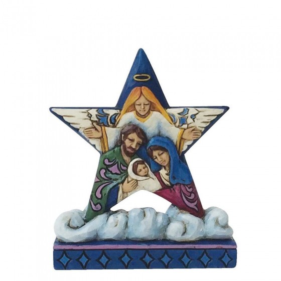 Heartwood Creek, Jim Shore, Mini Nativity Star, Stern, Christi Geburt