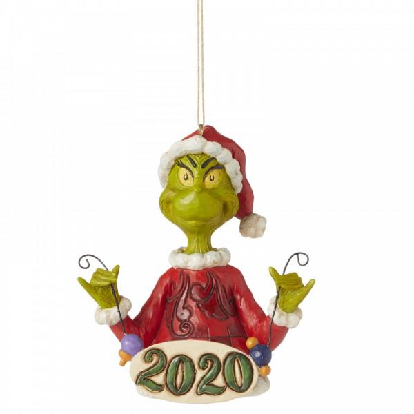 Jim Shore, Heartwood Creek, The Grinch Collection, Grinch Holding String of Ornaments, 2020 Ornament, Anhänger, Weihnachtsanhänger, Tannenbaumanhänger, 6006573