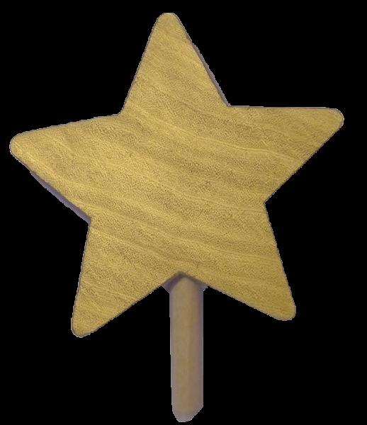 Sebastian Design, Candlering, Kerzenring, Skandinavischer Holzkranz, Skandinavische Kerzenringe, Stern gold, goldener Stern, 46-786-199