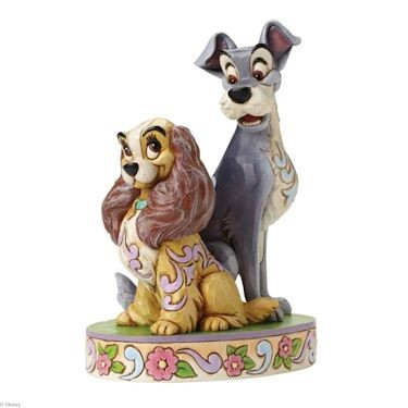 Disney Traditions, Jim Shore - Opposites Attract Lady & The Tramp / Susi & Strolch