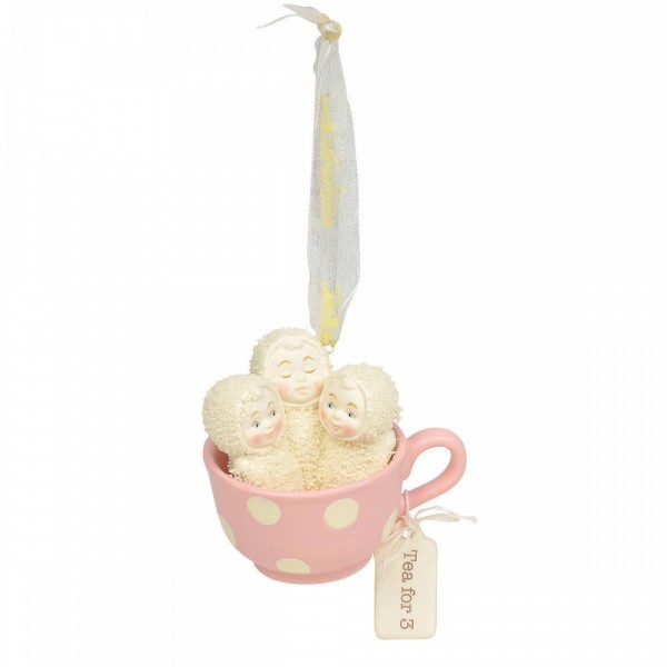 Snowbabies, Department 56, Kristi Jensen Piero, Tea For Three, Ornament, Anhänger, Weihnachtsanhänger, 6004207