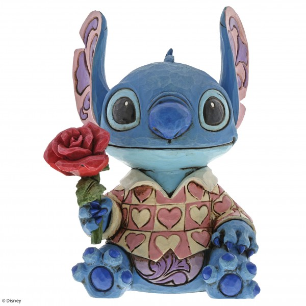 Disney Traditions, Jim Shore, Clueless Casanova - Stitch mit Blumen