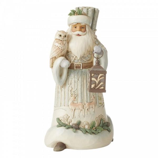 Heartwood Creek, Jim Shore, Seek Wonder Within The Winter, Santa with Owl and Lantern, Suche das Wunder im Winter, Weihnachtsmann, White Woodland Collection
