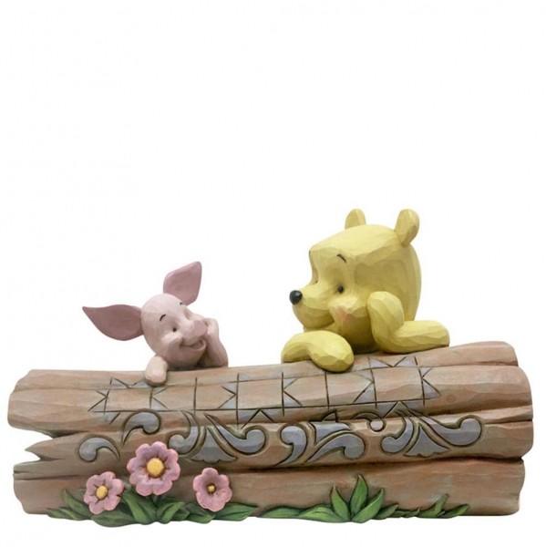 Disney Traditions, Jim Shore, Truncated Conversation, Winnie the Pooh, Winnie Pooh, Winnie Puuh, Piglet, Ferkel