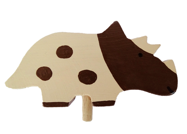 Sebastian Design, Kerzenringe, Kerzenring, skandinavische Kerzenringe, Holzkranz, Holzkränze, skandinavische Dekoration, Dinosaurier, Triceratops, HK-D-2020-04