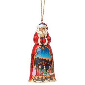 Heartwood Creek, Jim Shore, Silent Night Santa Ornament, Weihnachtsmann, Anhänger