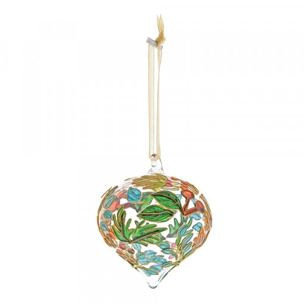Enesco's Treasury of Ornaments, handbemalt, mundgeblasen, Autumn Flowers, Herbstblumen, Glaskugel, Anhänger