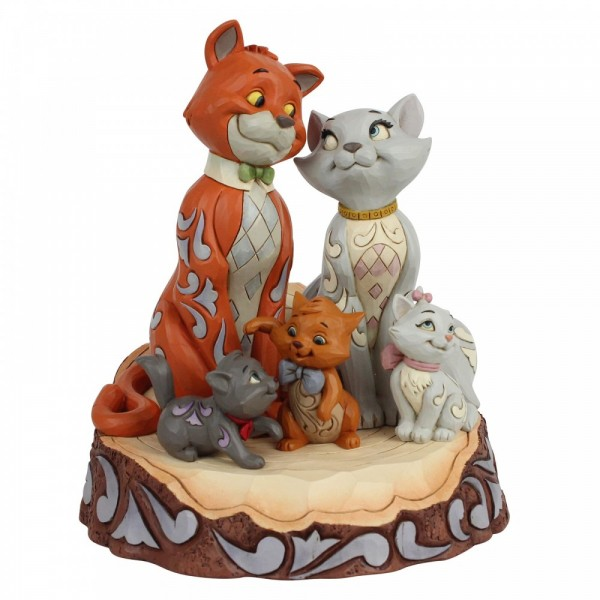 Disney Traditions , Jim Shore, Aristocats, Carved By Heart, Disneyfigur, Disney Figur, 6007057