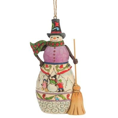 Heartwood Creek, Jim Shore, Winter Scene Snowman Ornament, Schneemann, Anhänger