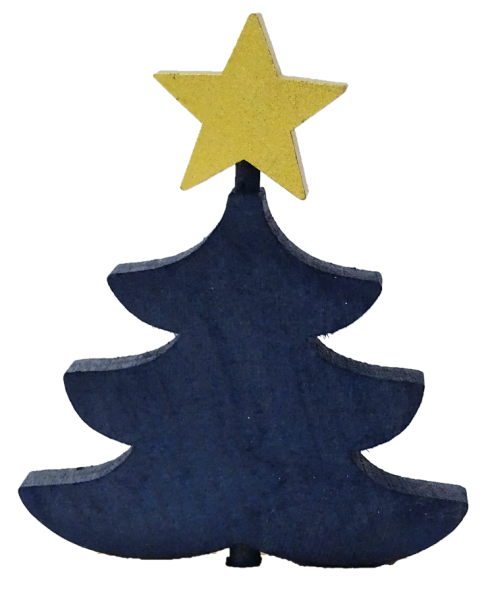 Sebastian Design, Candlering, Kerzenring, Kerzenringe, Skandinavischer Holzkranz, Skandinavische Kerzenringe, Tanne mit Stern, blaue Tanne mit goldenem Stern, 46-785-130