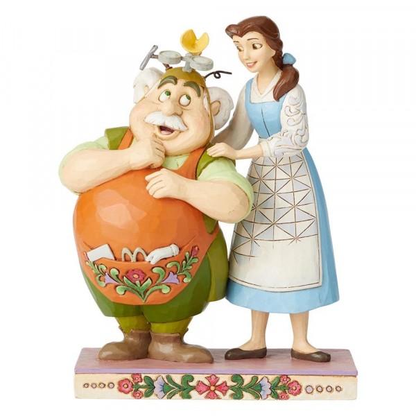 Disney Traditions, Jim Shore - Devoted Daughter Belle & Maurice / Die Schöne und das Biest, Liebevolle Tochter