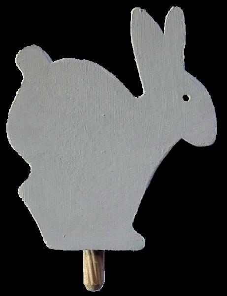 Sebastian Design, Candlering, Kerzenring, Kerzenringe, Skandinavischer Holzkranz, Holzkränge, Skandinavische Kerzenringe, Hase, Osterhase, Osterhase in weiß, 46-214-102