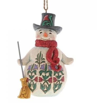 Heartwood Creek, Jim Shore, Winter Wonderland Snowman Ornament, Schneemann, Anhänger, 6001425