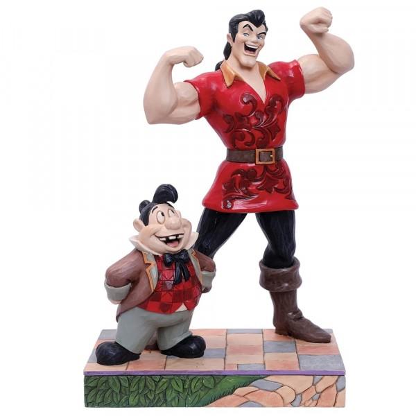 Disney Traditions, Jim Shore, Muscle-Bound Menace, Gaston and Lefou, Gaston und Lefou, Muskulöse Bedrohung