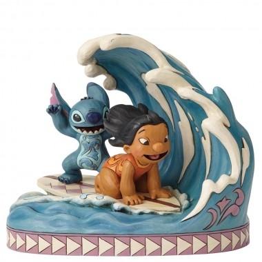 Disney Traditions, Jim Shore - Catch The Wave Lilo & Stitch