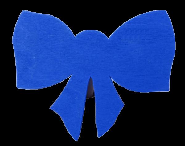 Sebastian Design, Candlering, Kerzenring, Skandinavischer Holzkranz, Skandinavische Kerzenringe, Schleife blau, 46-683-131